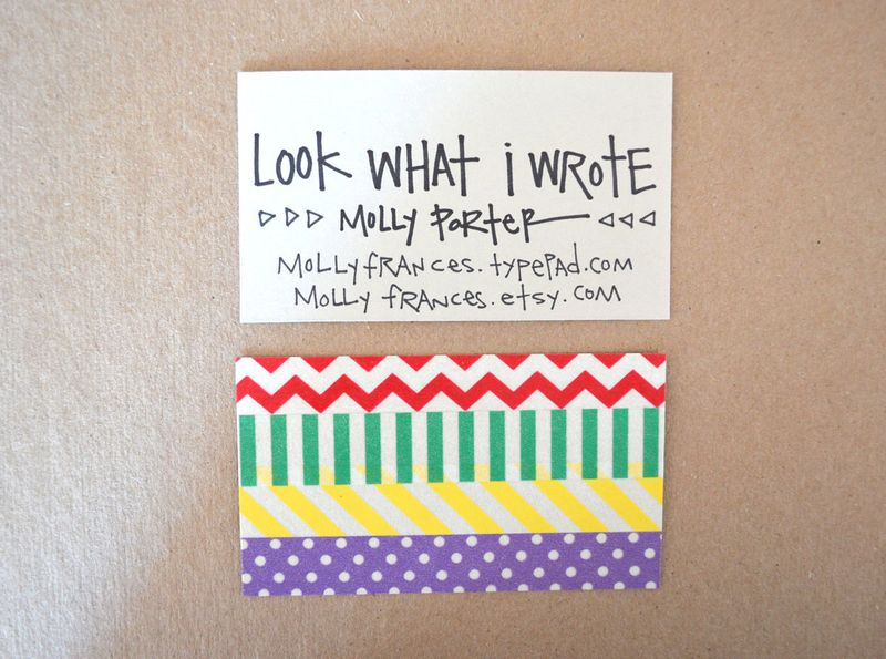 Excellent Washi Tape Business Cards - Look What I Made XX68